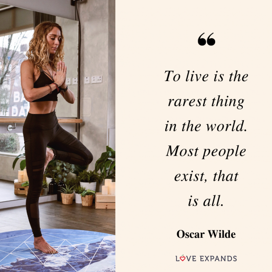 To live is the rarest thing in the world. Most people exist, that is all. -Oscar Wilde | Picture Quote