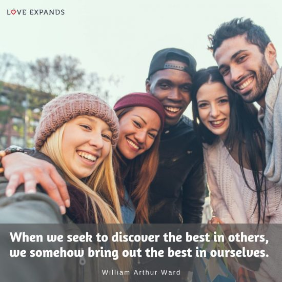 When we seek to discover the best in others, we somehow bring out the best in ourselves. Picture quote by William Arthur Ward