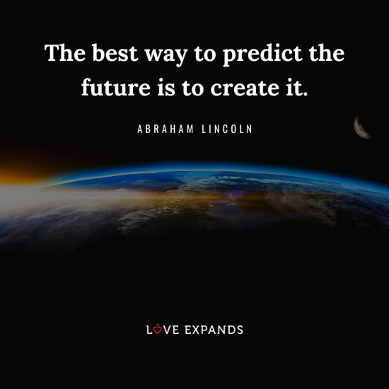 Abraham Lincoln picture quote of Earth and the sun from outer space.