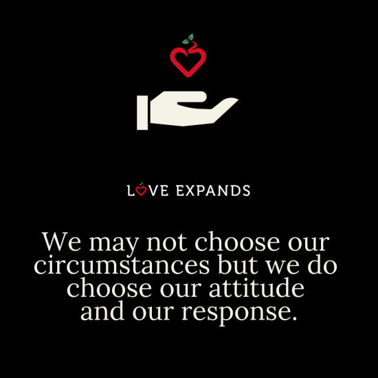 Picture Quote: We may not choose our circumstances but we do choose our attitude and our response.